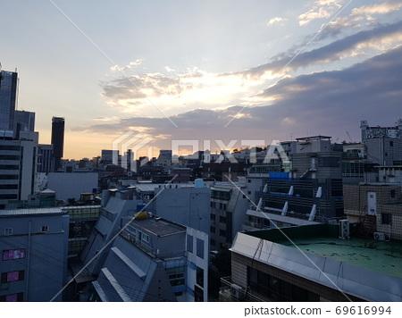 한국.도시.서울.신사동.아침.빌딩 69616994
