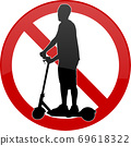 no electric scooters sign 69618322