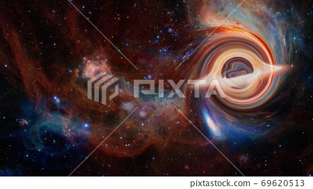 Supermassive black hole. Elements of this image 69620513
