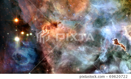 Space scene with stars and galaxies. Elements of 69620722