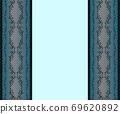 藍色和黑色蕾絲,兩麵類型,淺藍色背景 69620892