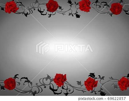 紅玫瑰框灰色漸變色 69622857