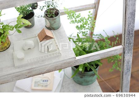 DIY木架子和室內綠色的圖像照片 69638944