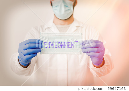 Writing note showing Environment. Business photo 69647168