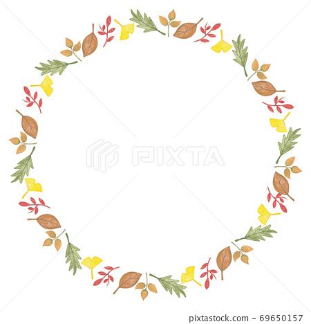 Autumn Frame Illustration - autumn leaves frame 69650157