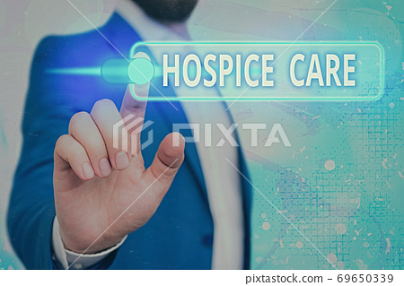 Handwriting text Hospice Care. Concept meaning 69650339