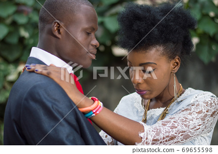 Young couple in love entwined. 69655598
