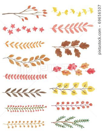 秋天的樹分支模式 69656507