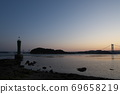 《Okayama Prefecture》 Scenery of the Seto Inland Sea seen from Kusumi nose 69658219