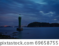 《Okayama Prefecture》 The scenery of the Seto Inland Sea seen from Kusumi nose 69658755