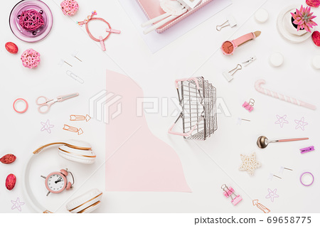 Art creativity for sale workspace mockup top view 69658775