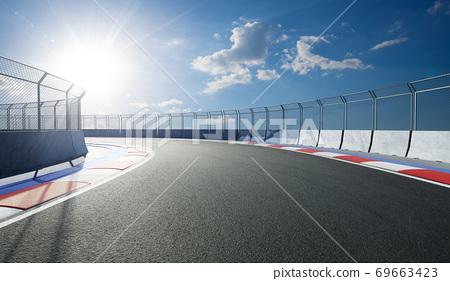 Modern international race track 69663423