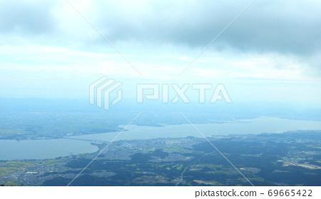 從琵琶湖谷眺望琵琶湖的景色 69665422