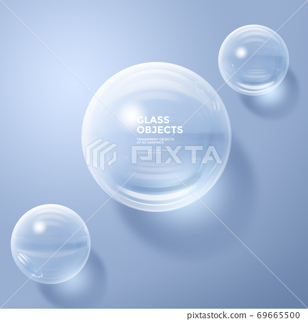Glass Objects, 3D rendering surreal composition 007 69665500
