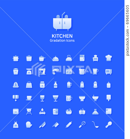 Set of thin lines icons 012 69665605