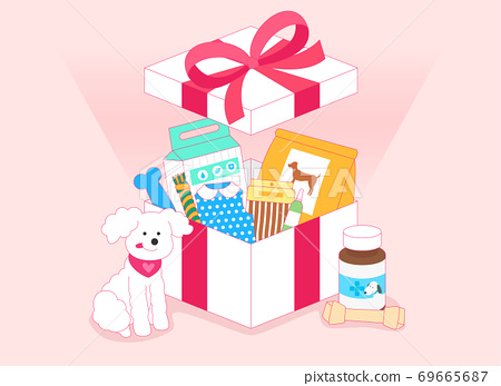 Open gift box concept, Colorful presents illustration 001 69665687