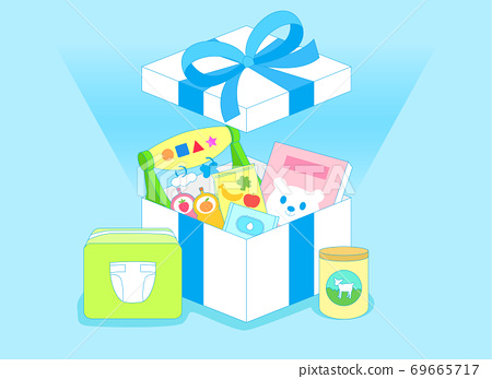 Open gift box concept, Colorful presents illustration 003 69665717
