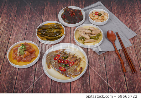 Delicious Korean food, a collection of various Korean dishes 072 69665722