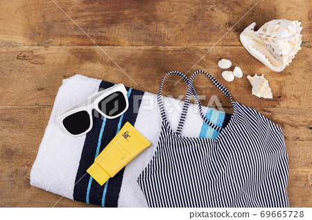 Summer holiday concept, Summer beach accessories 184 69665728