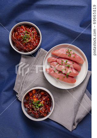 Delicious Korean food, a collection of various Korean dishes 103 69665819