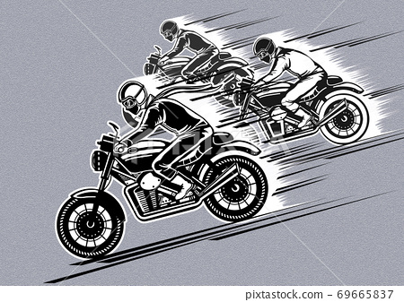 A high speeding concept in hand-drawn illustration 002 69665837