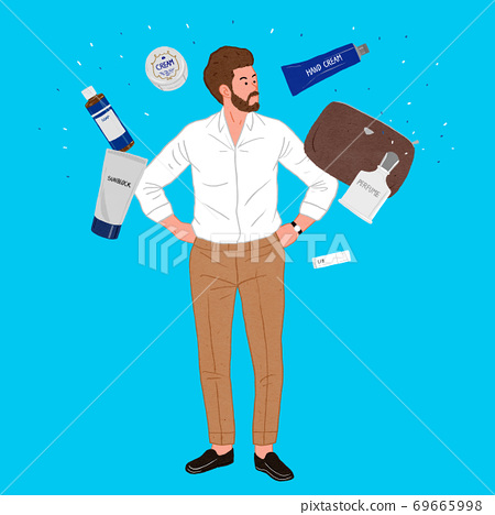 Modern man's life concept flat design illustration 002 69665998