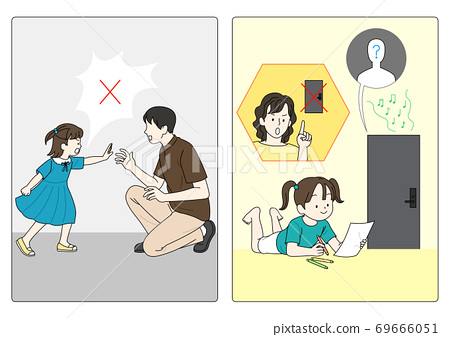 Sexual assault prevention concept in flat illustration 003 69666051