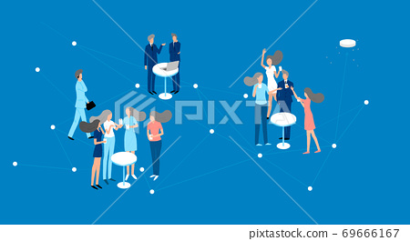 Business concept, working for success aims achievement, business strategy illustration 010 69666167