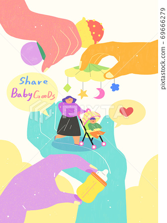 Sharing economy and smart consumption concept illustration 008 69666279