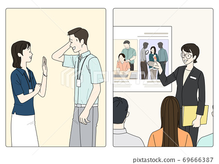 Sexual assault prevention concept in flat illustration 008 69666387