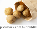 Potatoes overflowing from craft bags 69666680