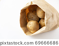 Potatoes in a craft bag 69666686