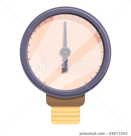 Device manometer icon, cartoon style 69671005