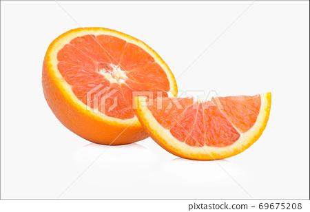 Orange fruit isolated on white background 69675208