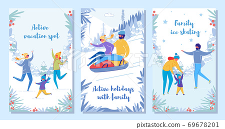 Family Winter Holiday Vacation and Activity Set. 69678201