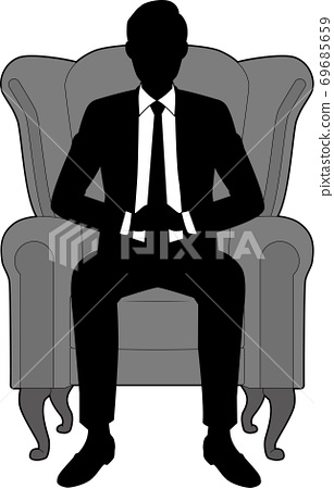坐在椅子上的男性商人 69685659
