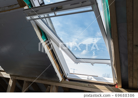 Unfinished residential loft conversion 69688386