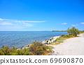 Southern European lakes and white roads 69690870