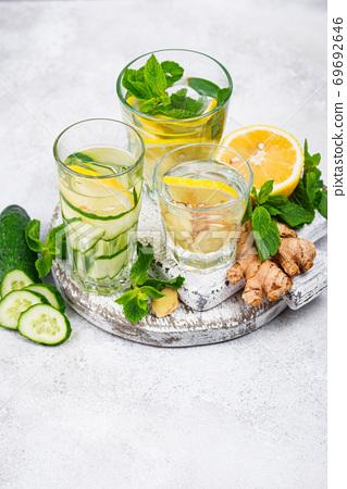 Set of various healthy detox water 69692646