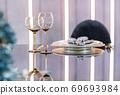 Empty glasses set in a modern restaurant 69693984