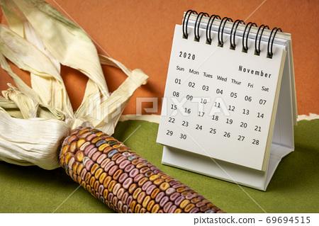November 2020 - spiral desktop calendar 69694515