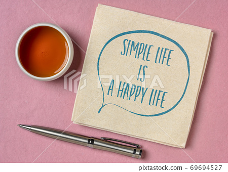 simple life is a happy life inspirational quote 69694527