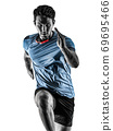 runner running jogger jogger young man isolated white background 69695466