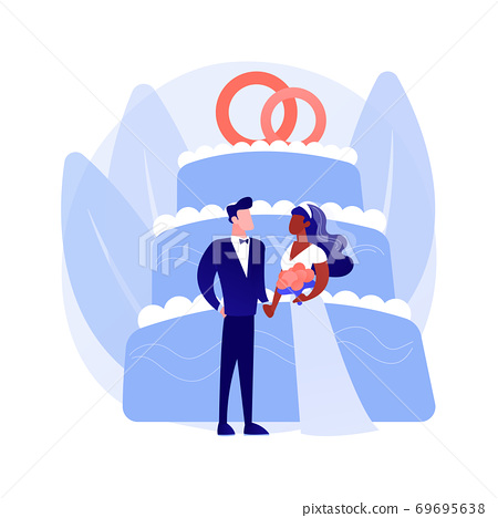 Mixed marriage abstract concept vector illustration. 69695638