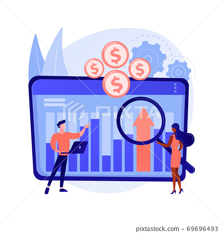 Financial management system abstract concept vector illustration. 69696493