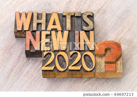 What is new in 2020 word abstract in wood type 69697213