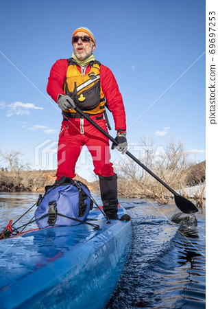 stand up paddling winter training 69697253
