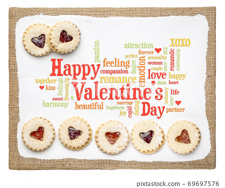 Happy Valentines Day word cloud 69697576