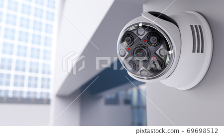 Modern security CCTV camera 69698512