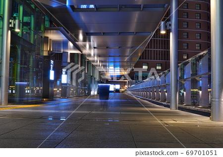 Skywalk night on the south side of JR Osaka Station 69701051